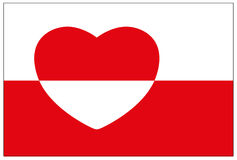 Greenland flag Stock Images