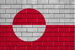 Greenland flag painted on a brick wall Stock Photography