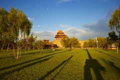 Greenland and forbidden city, Beijing stock photo