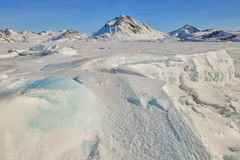 Greenland frozen ice Stock Photo