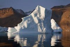 greenland góra lodowa scoresbysund obraz royalty free