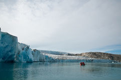 Greenland Glacier. A boat tour trip from Tasiilaq going to the Glacier in Greenland Royalty Free Stock Photography