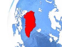 Greenland on globe Royalty Free Stock Photography
