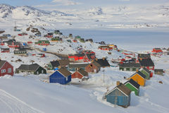 Greenland houses Stock Image