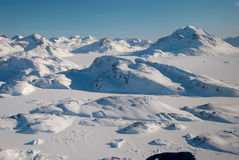 Greenland, ice floe and mountains. Landscape of ice floe and mountains, Greenland royalty free stock photo