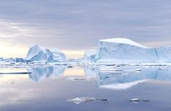 Greenland Icebergs Royalty Free Stock Photography
