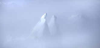 Greenland Icebergs in the Clouds Royalty Free Stock Photography