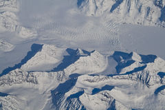 Greenland Icecap Glacier and Mountain Peaks Stock Photos
