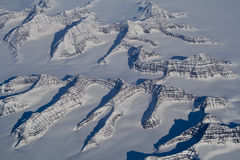 Greenland Icecap Glacier and Mountain Peaks Stock Images