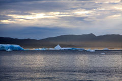 Greenland landscape. In the afternoon Royalty Free Stock Photography