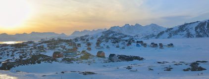 Greenland landscape  in spring time. Greenland landscape in Kulusuk village in spring time Royalty Free Stock Images