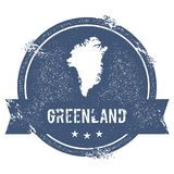 Greenland mark. Stock Photos