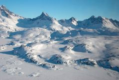 Greenland, mountains and ice floe Royalty Free Stock Photography