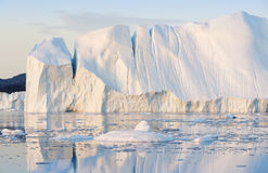 Greenland. Nature and landscapes of Greenland.Travel on the scientific vessel among ices. Studying of a phenomenon of global warming. Ices and icebergs of royalty free stock images