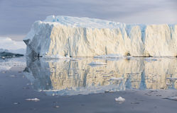 Greenland. Nature and landscapes of Greenland. Travel on the scientific vessel among ices. Studying of a phenomenon of global warming. Ices and icebergs of royalty free stock images