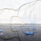 Greenland. Nature and landscapes of Greenland. Travel on the scientific vessel among ices. Studying of a phenomenon of global warming. Ices and icebergs of royalty free stock photo