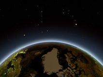 Greenland at night Royalty Free Stock Photos
