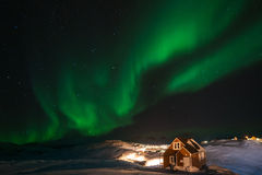 Greenland Northern Lights Stock Image