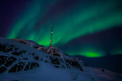 Greenland northern lights Royalty Free Stock Photo
