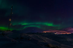 Greenland północni światła Fotografia Stock