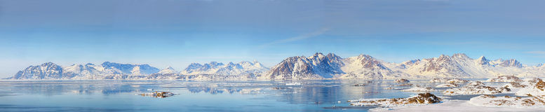 Greenland panorama. Shoot in spring time