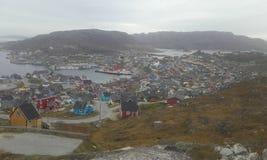 Greenland qaqortoq Południowy Greenland Natura city Obrazy Royalty Free