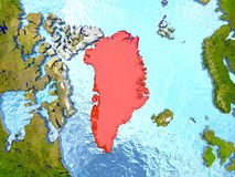 Greenland in red Stock Photography