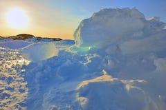 Greenland`s sunset Stock Photo