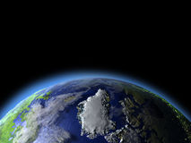Greenland from space Stock Images