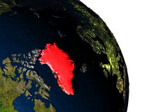 Greenland from space Stock Image