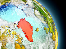 Greenland from space Stock Photos