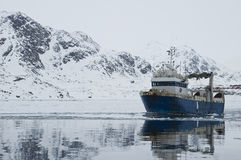Greenland trawler Royalty Free Stock Images
