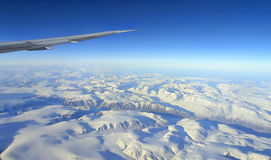 Greenland. Under the wing of Greenland Stock Image