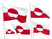 Greenland vector flags Stock Photo