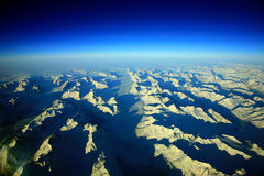 Greenland view. Greenland sky and mountains aerial view royalty free stock image