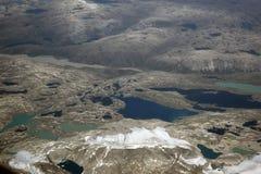 Greenland, vista aérea Imagem de Stock Royalty Free