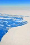 Greenland widok z lotu ptaka Zdjęcie Stock