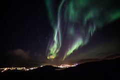 Greenlandic βόρεια φω'τα στοκ εικόνα με δικαίωμα ελεύθερης χρήσης