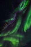 Greenlandic βόρεια φω'τα στοκ εικόνες