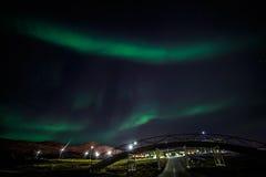 Greenlandic βόρεια φω'τα στοκ φωτογραφία με δικαίωμα ελεύθερης χρήσης