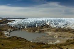 Greenlandic фронт ледника ледяной шапки около пункта 660, Kangerlussuaq, Гренландия стоковые изображения