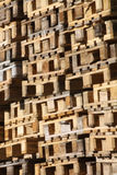 Greenlandic Harbour. Detail of pallets in Sisimiut Harbour - Greenland Stock Photography