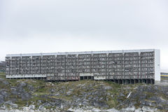 Greenlandic houses for deprived families. Greenlandic houses for low-income families Royalty Free Stock Photos