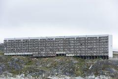 Greenlandic huizen voor arme families royalty-vrije stock foto's