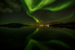 Greenlandic noordelijke lichten royalty-vrije stock foto's