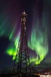 Greenlandic noordelijke lichten stock fotografie