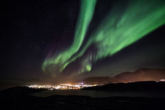 Greenlandic northern lights Stock Photography
