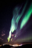 Greenlandic northern lights Stock Photos
