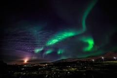 Greenlandic Northern lights Royalty Free Stock Photo