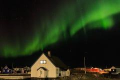 Greenlandic Northern lights Royalty Free Stock Photography